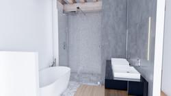 Mise en scène 3D d'une salle de bain