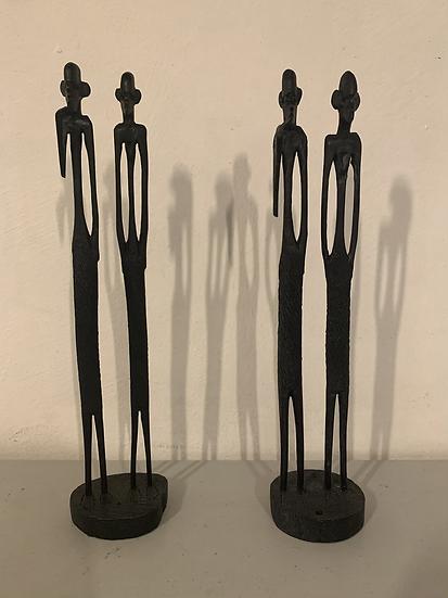 Paire de statuettes africaines