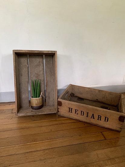 Caisse en bois Hédiard