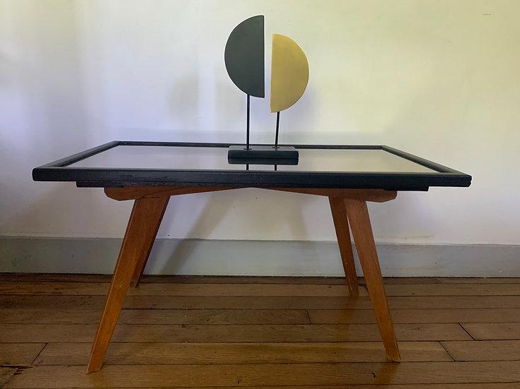 Table basse miroir