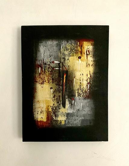 Huile sur toile abstraite
