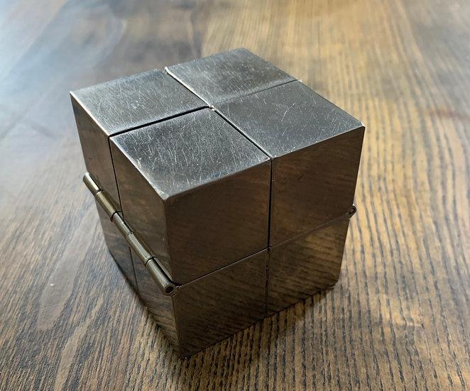 Cendrier métal argenté