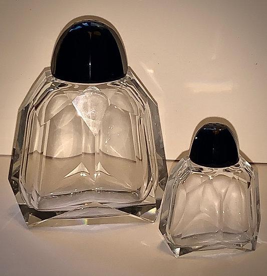 Salerons cristal Art Deco