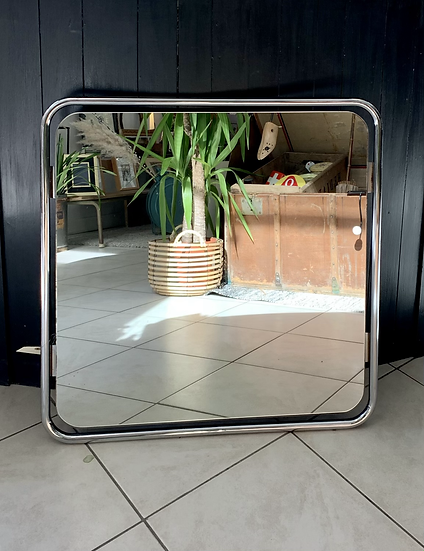 Miroir carré années 70