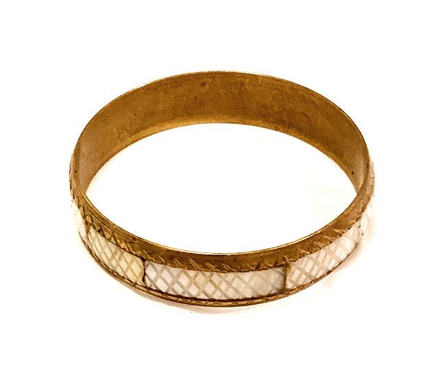 bracelet nacre et laiton