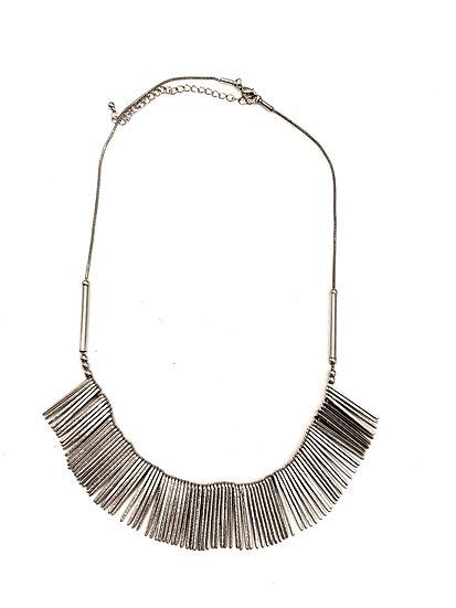 Collier métal argenté