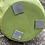 Thumbnail: Vase terre cuite vert mat