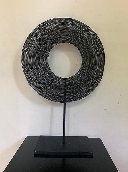 Sculpture abstraite fer torsadé