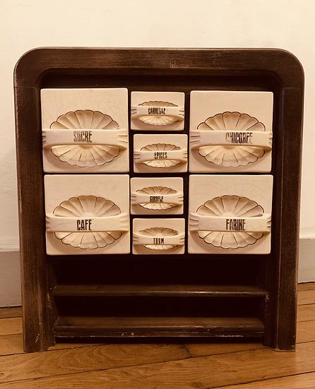 Étagère à épices Art Deco