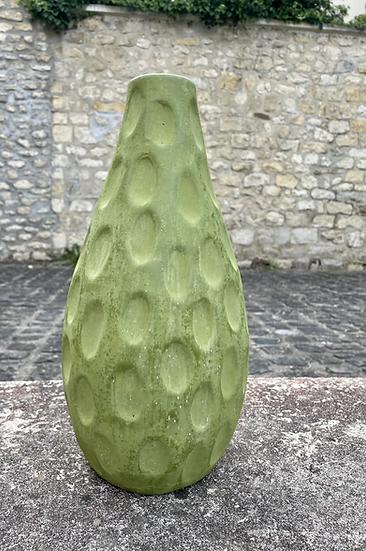 Vase terre cuite vert mat