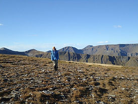 Brodie out and about in the Grey corries at Fortwilliam