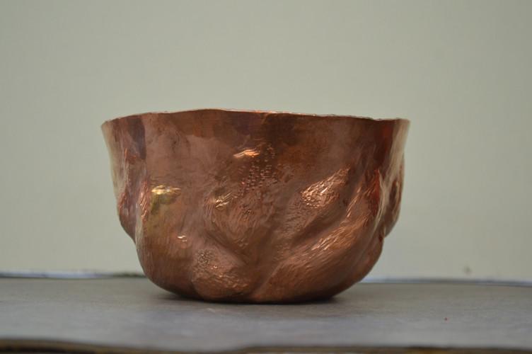 textured raised vessel