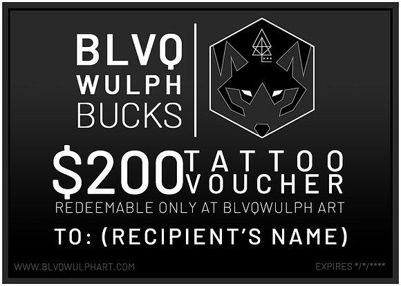 BLVQWULPH BUCKS ($200)