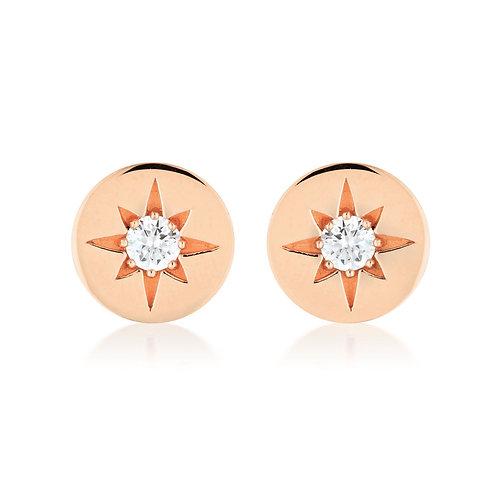 Georgini - Stellar Lights Rose Gold Stud Earrings