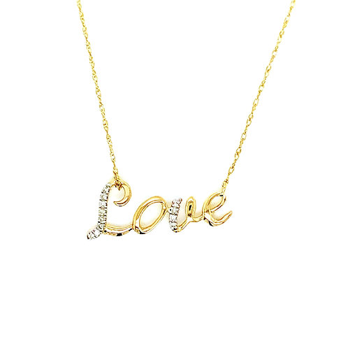 "Diamond ""Love"" Necklet"