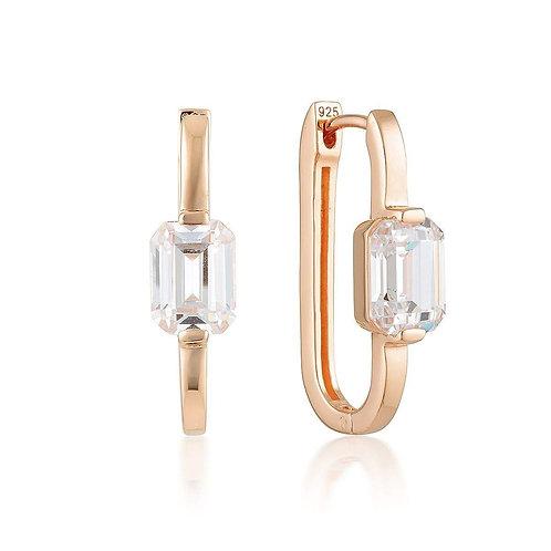 Georgini - Emilio Rose Gold Hoop Earrings