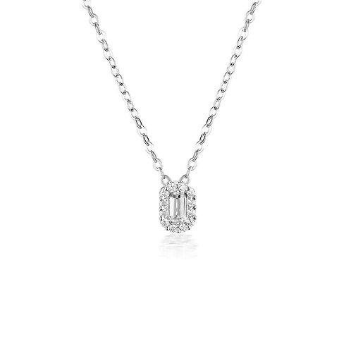 Georgini - White Cz Rhodium Pendant