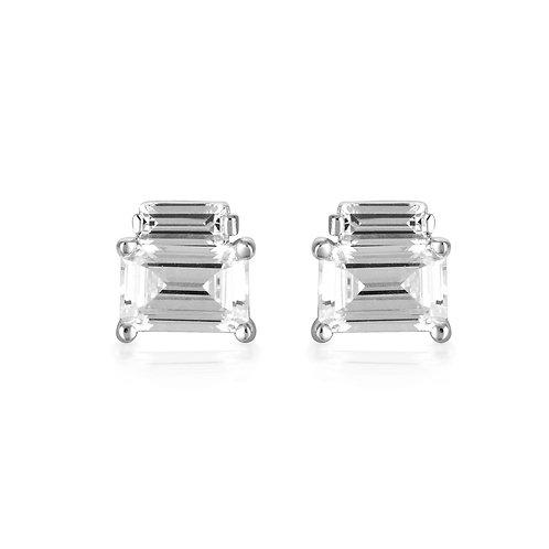Georgini - Emilio Silver Double Baguette Earrings