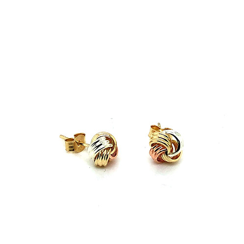 Gold & Silver Knot Earrings