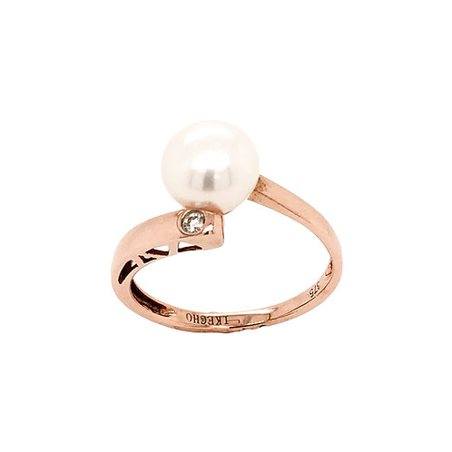 Pearl & Diamond Rose Gold Ring
