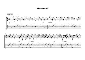 Macarena Guitar Solo Sheet Music Spanish Traditional