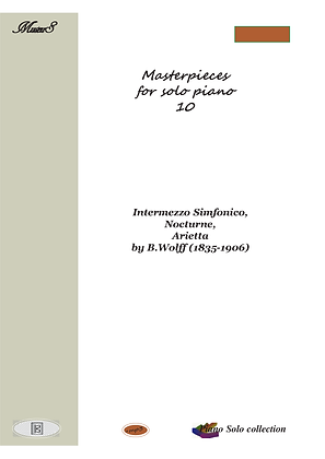Masterpieces for solo piano 10 by Wolff piano solo sheet music