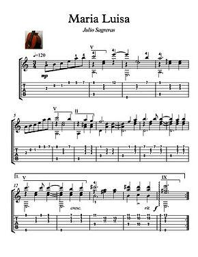 Maria Luisa Guitar Solo by Sagreras