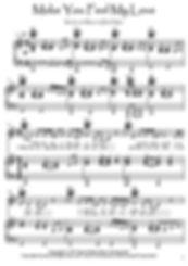 Make You Feel My Love piano music score download Adele