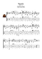 Mazurka 7 2 Guitar Solo Sheet Music Chopin