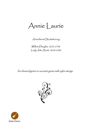Annie Laurie guitar solo score download