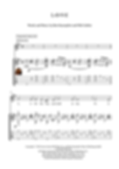 Love Guitar Solo Sheet Music Cole