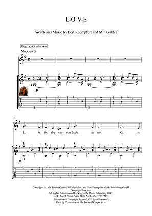 LOVE guitar solo sheet music download