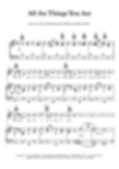 All The Things You Are Piano score Fitzgerald