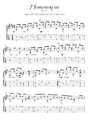 Humoresque by Dvorak guitar solo