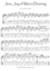 Jesu Joy of Man's Desiring Bach guitar sheet music download