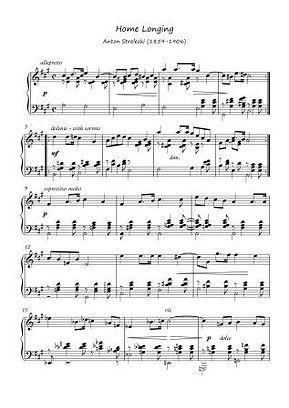 Home Longing Piano Solo By Anton Strelezki