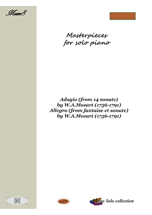 Masterpieces for solo piano 8 by W.Mozart piano solo sheet music