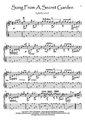 Song From A Secret Garden guitar fingerstyle solo