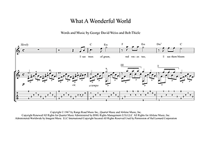 What A Wonderful World Classical Guitar Sheet Music Armstrong