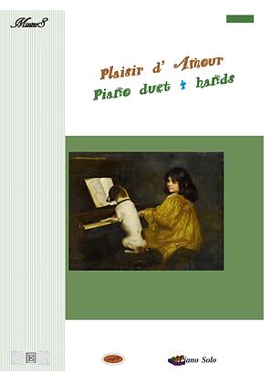Plaisir Amour piano duet 4 hands sheet music pdf mp3