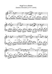 Angel As A Dream Opera Piano Solo Sheet Music Pdf Mp3 Donizetti