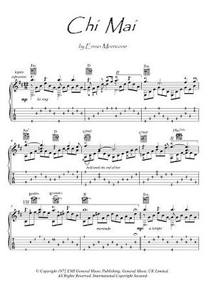 Chi Mai guitar fingerstyle score download