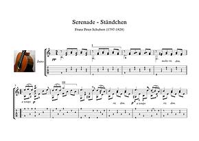 Serenade Guitar Solo Sheet Music Schubert