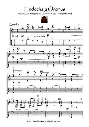 Endecha y Oremus - Mourn and Pray guitar score