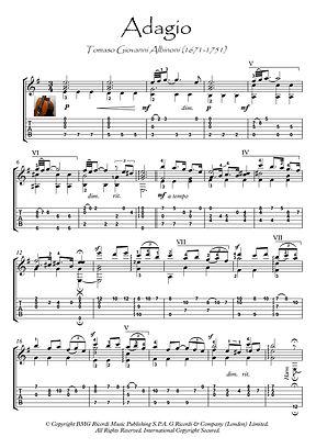 Adagio by Albinoni classical guitar solo