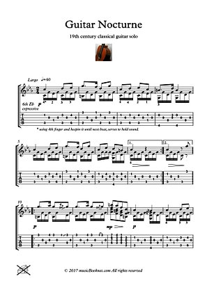 Classical Guitar Hits - Nocturne classical guitar solo pdf