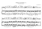 Adagio Cantabille Op13 Beethoven Cello Piano Duet