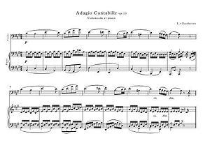 Adagio Cantabille Op13 Beethoven Cello Piano Duet