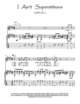 Blues Guitar  music score download- I Ain't Superstitious