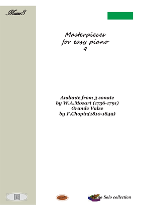 Masterpieces for easy piano 9 by Mozart and Chopin piano solo sheet music